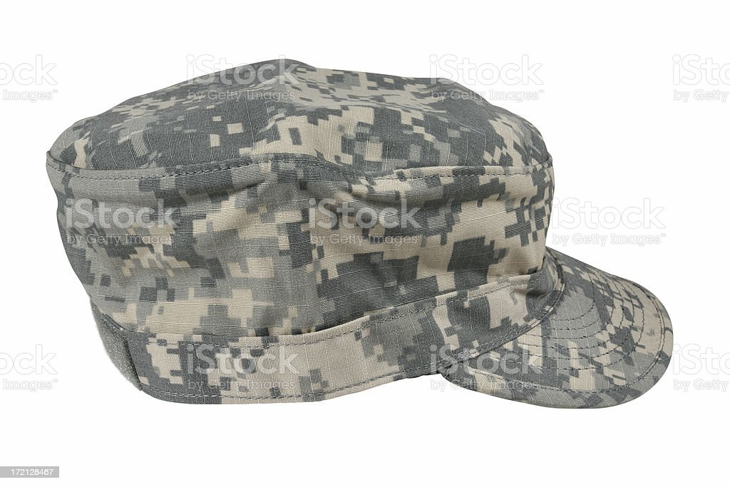 Digital Camo Army Hat stock photo