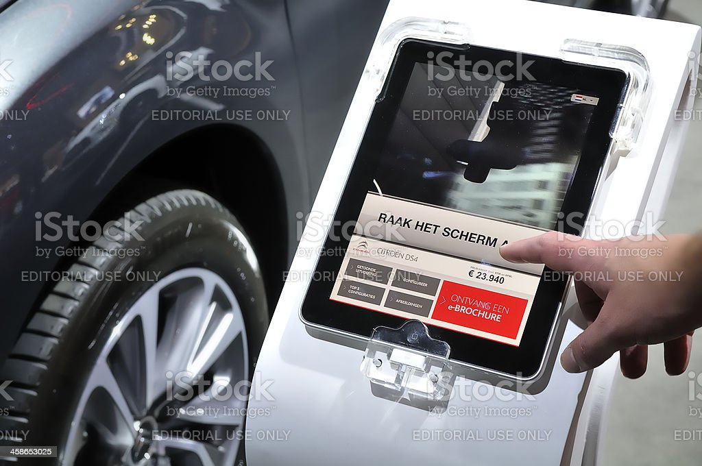 Digital car information royalty-free stock photo