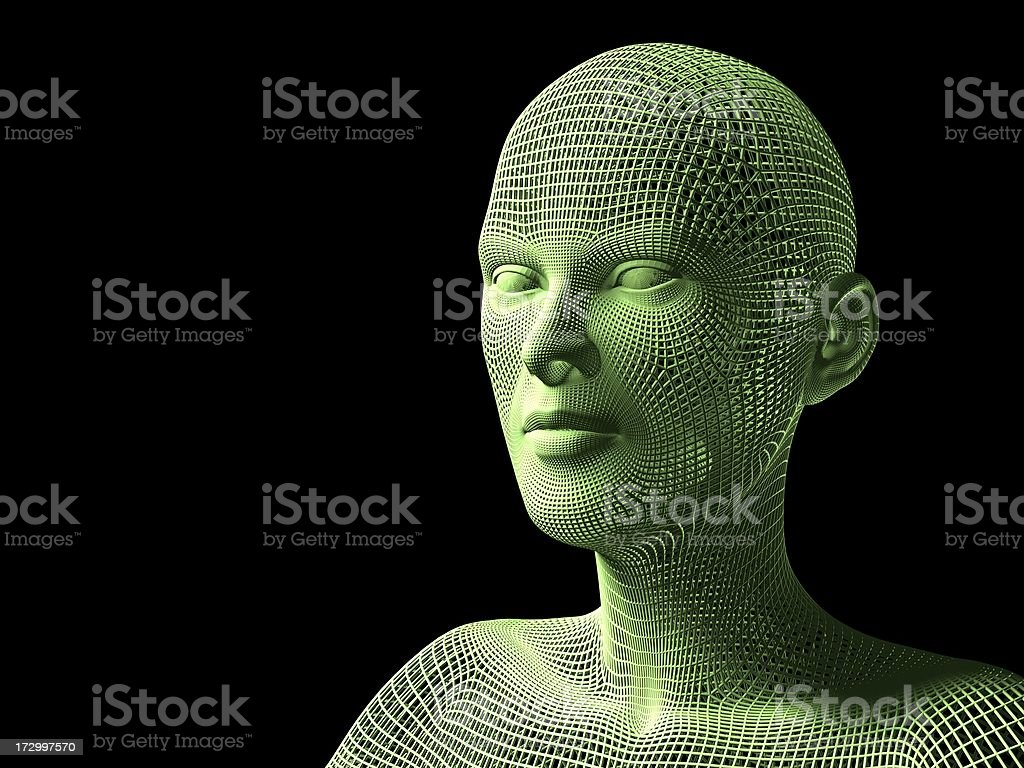 Digital Character stock photo