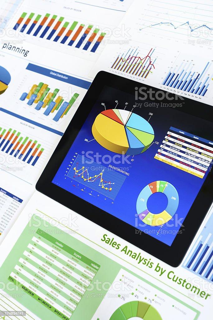 Digital chart background royalty-free stock photo