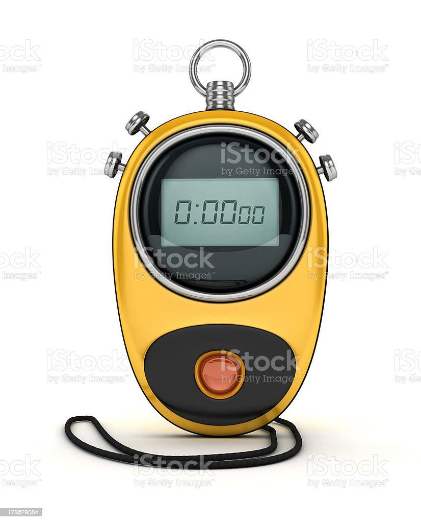 digital chronometer stock photo
