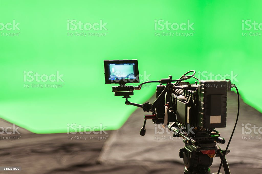 Digital Cinema Camera On set stock photo
