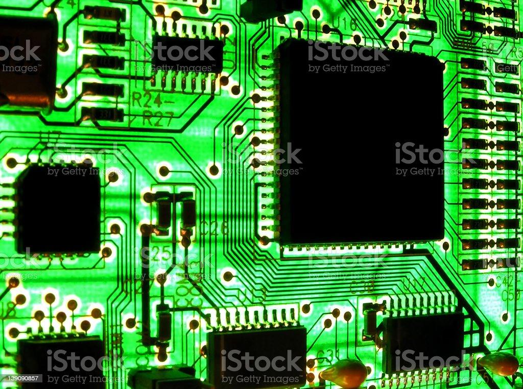 digital city in neon green stock photo
