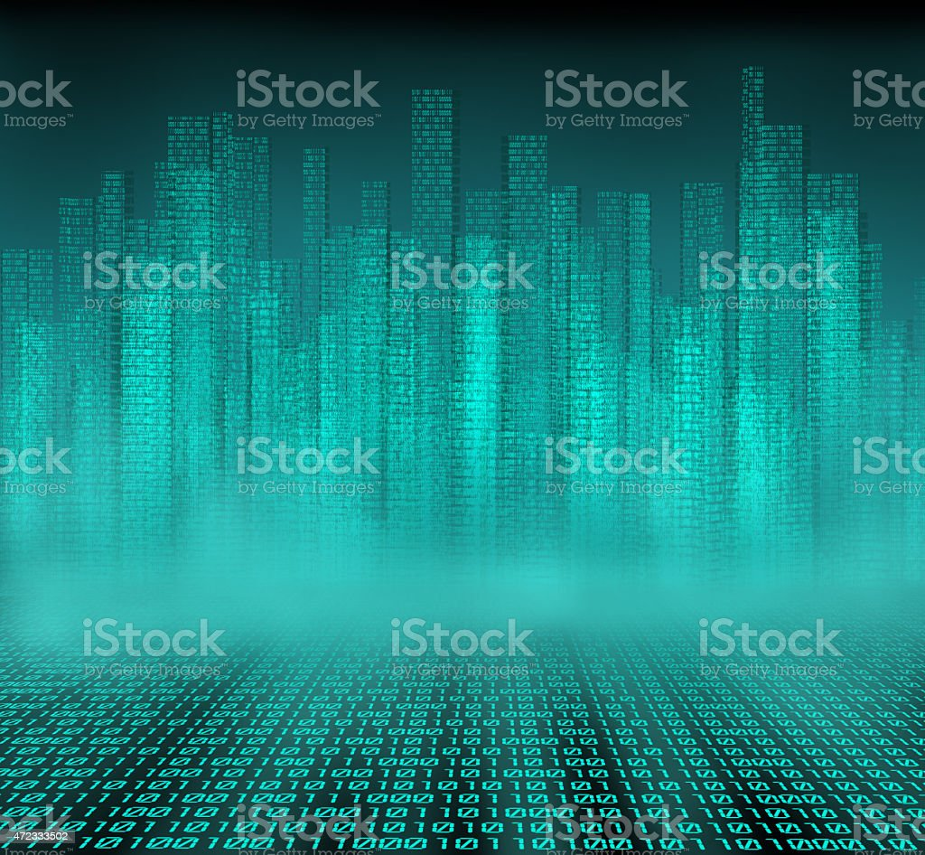 Digital City stock photo