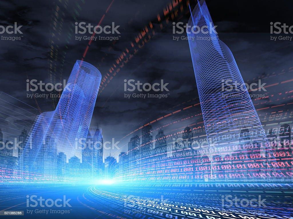 Digital City stock photo