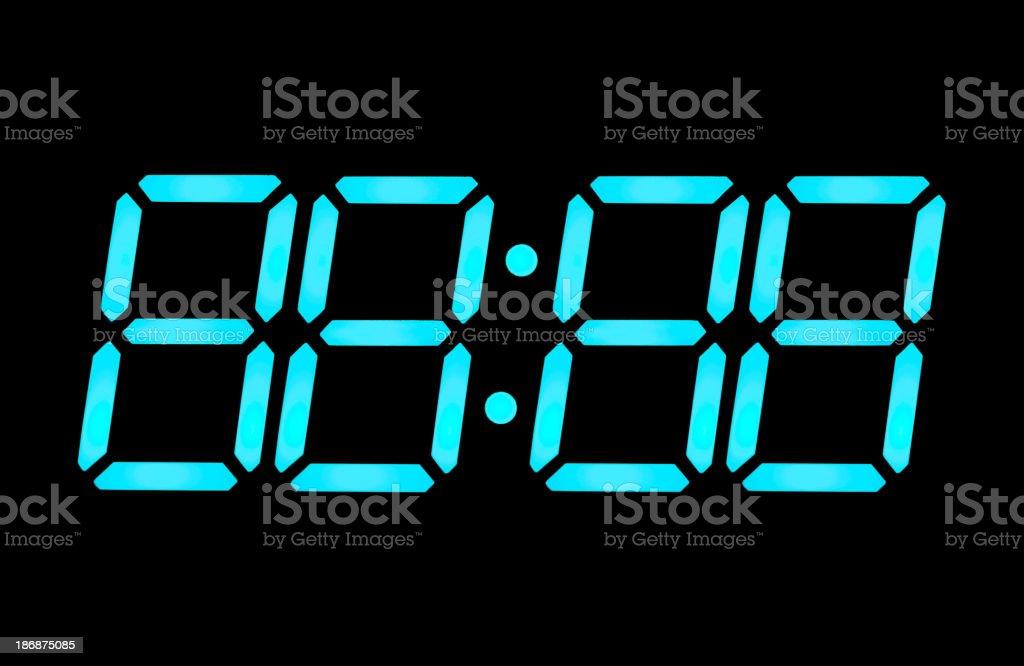 LCD digital clock numbers stock photo