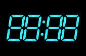 LCD digital clock numbers