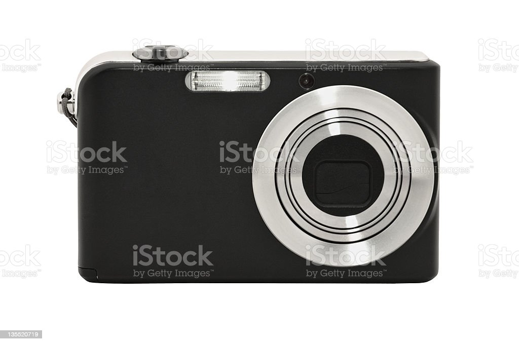 Digital compact camera. Isolated on white background stock photo