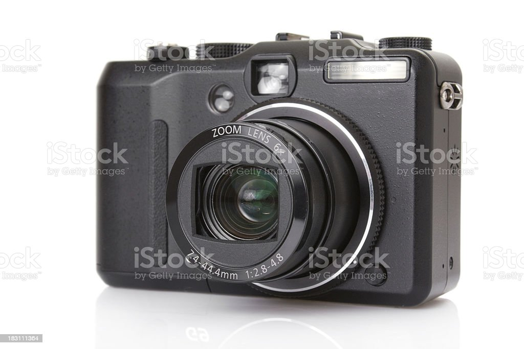 digital compact camera isolated on white stock photo