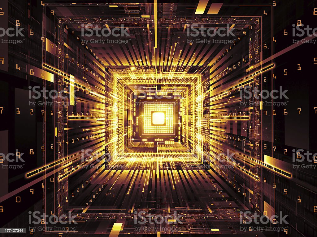 Digital Computer royalty-free stock photo