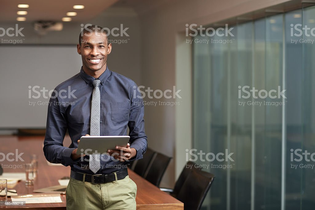 Digital connections in the corporate world stock photo