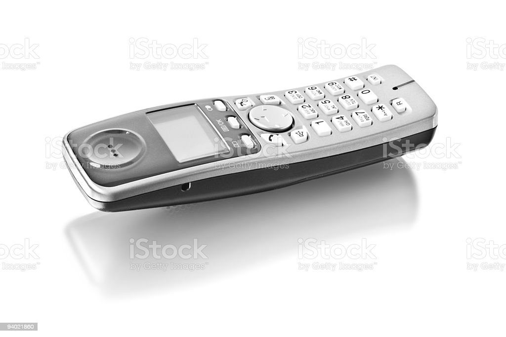 digital cordless answering system stock photo