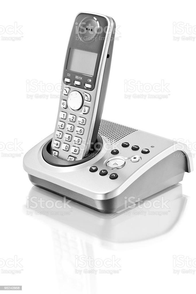 digital cordless answering system stock photo
