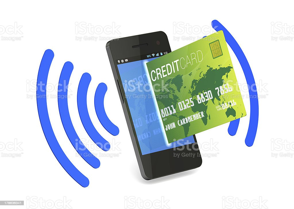 NFC Digital Credit Card stock photo