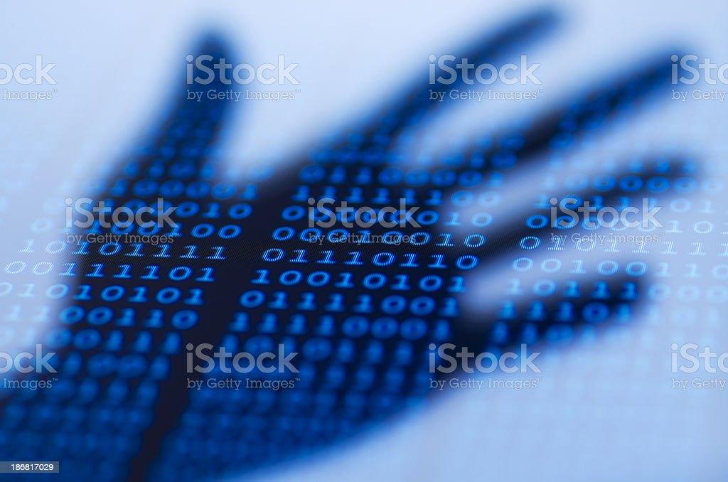 Digital crime royalty-free stock photo