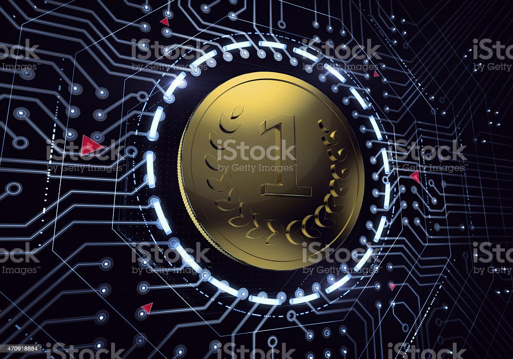 Digital Currency Coin stock photo