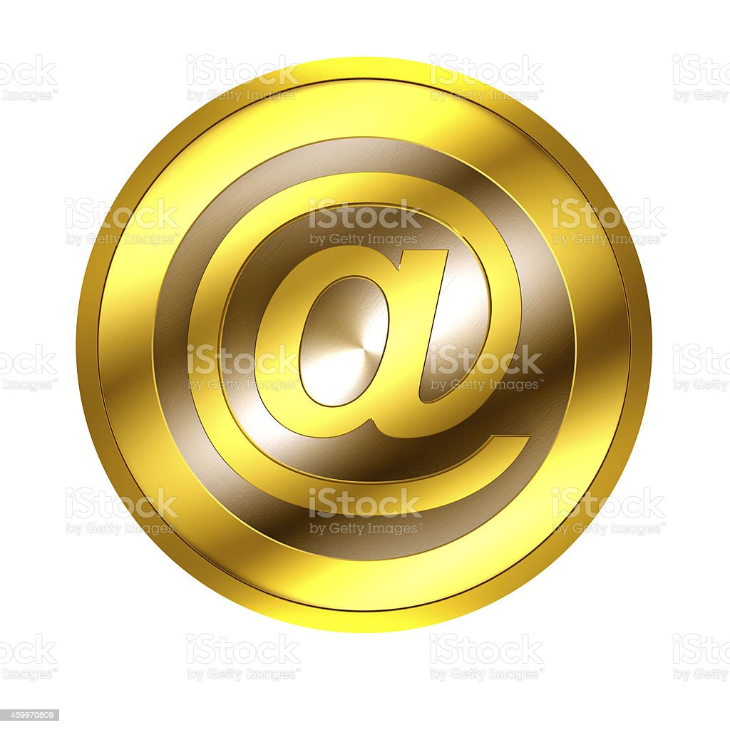 Digital currency isolated on white with clipping path stock photo