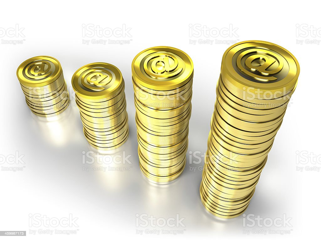 Digital currency isolated on white with clipping path royalty-free stock photo