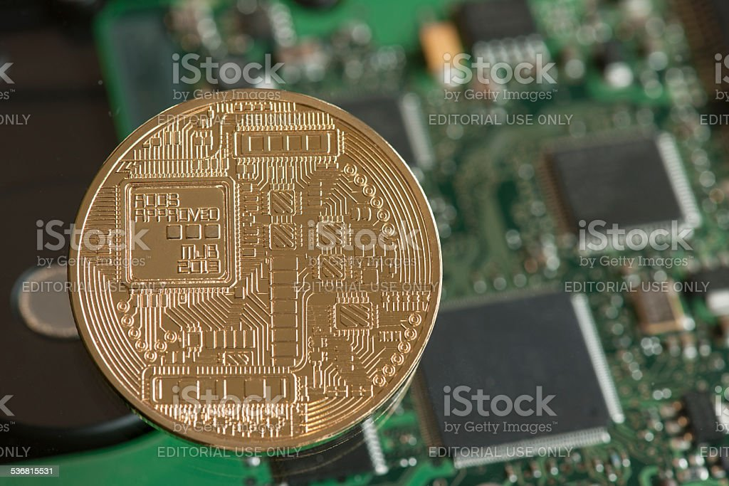 Digital currency stock photo