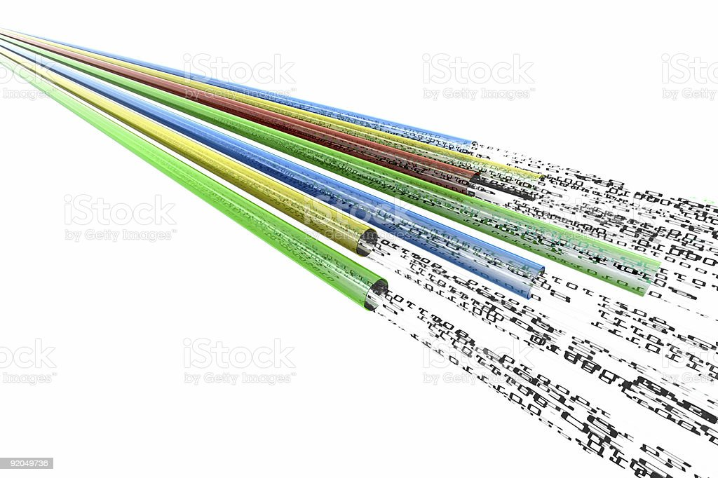 digital data cables stock photo