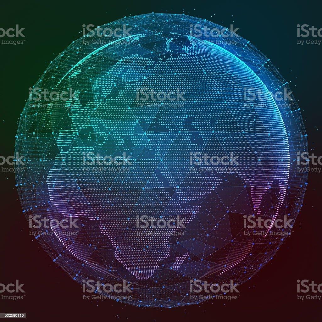 Digital design of a global network stock photo