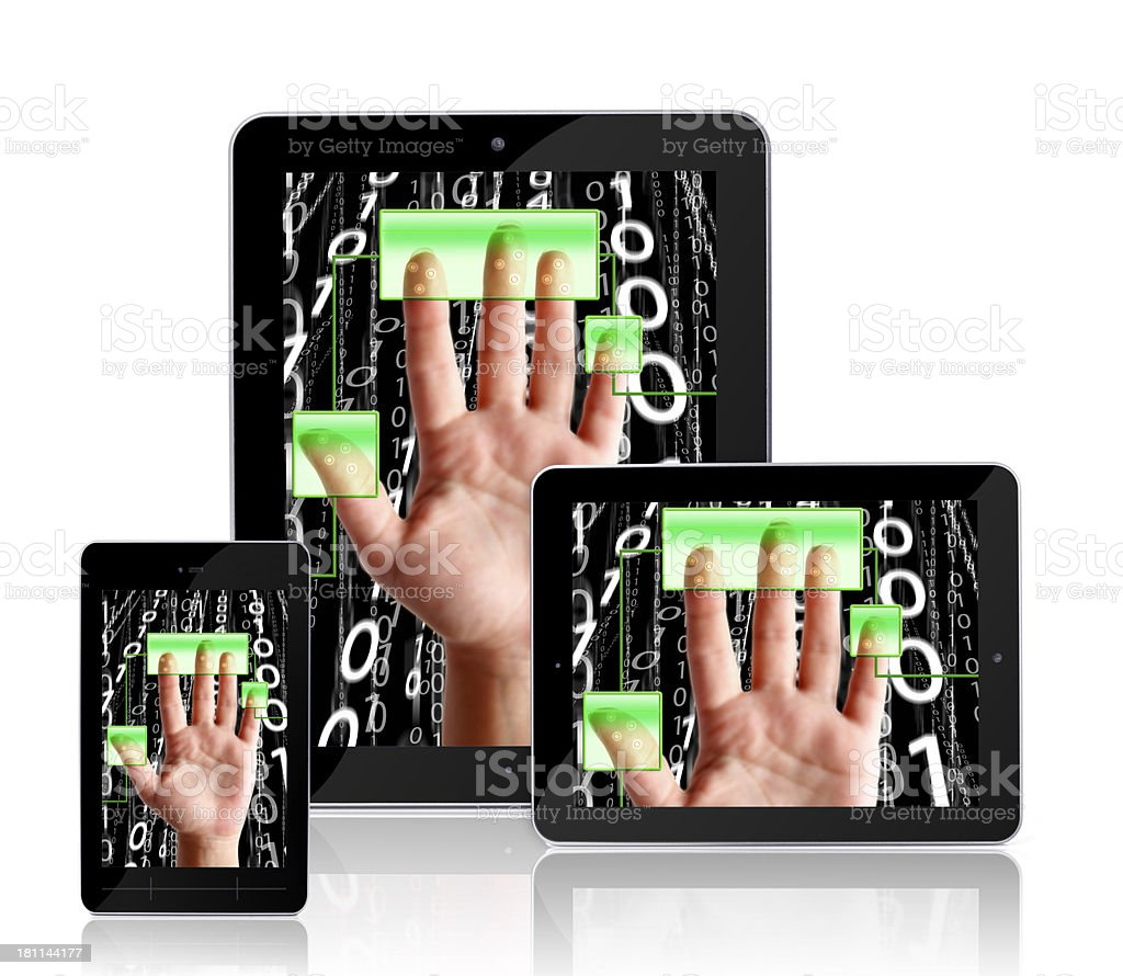 digital devices - access granted royalty-free stock photo