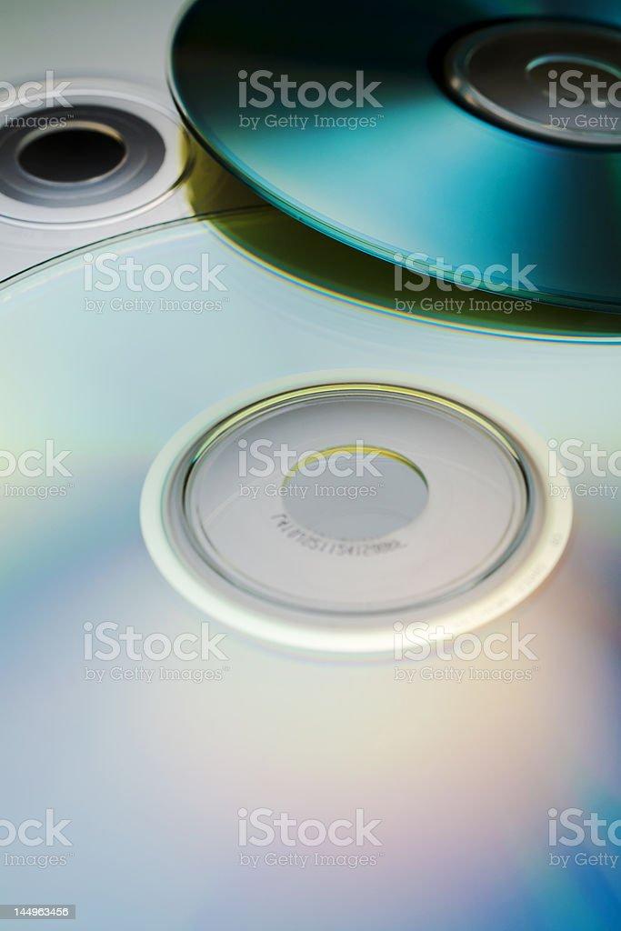 Digital discs stock photo