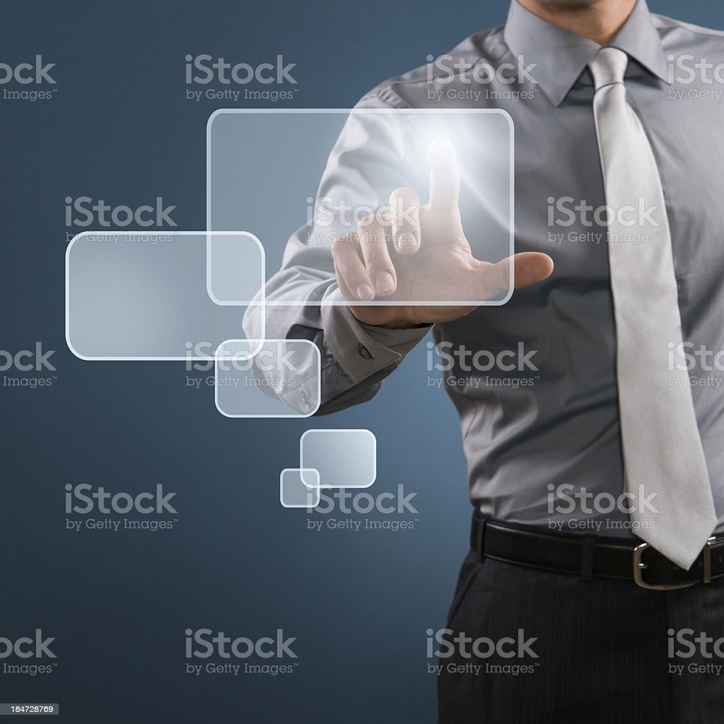 Digital display in business royalty-free stock photo