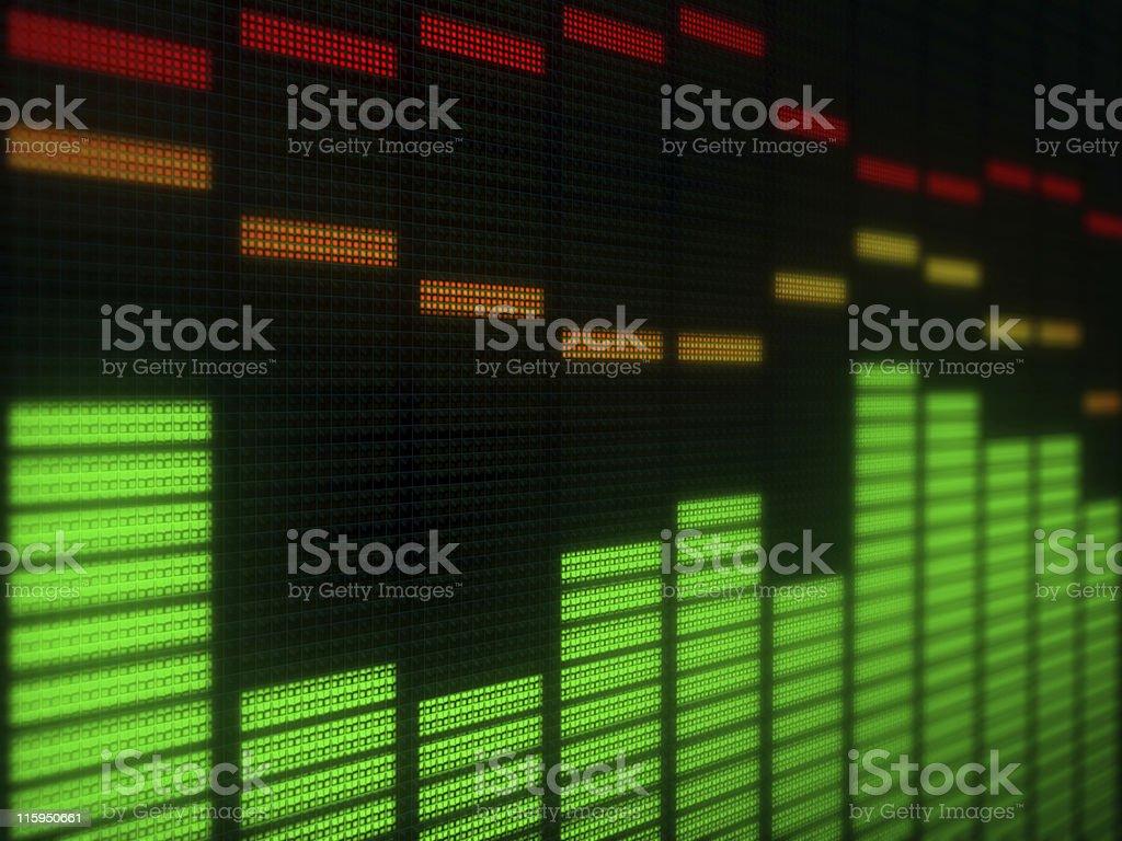 Digital display stock photo