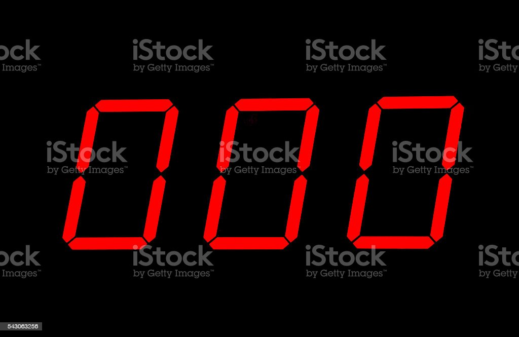 Digital Display stock photo