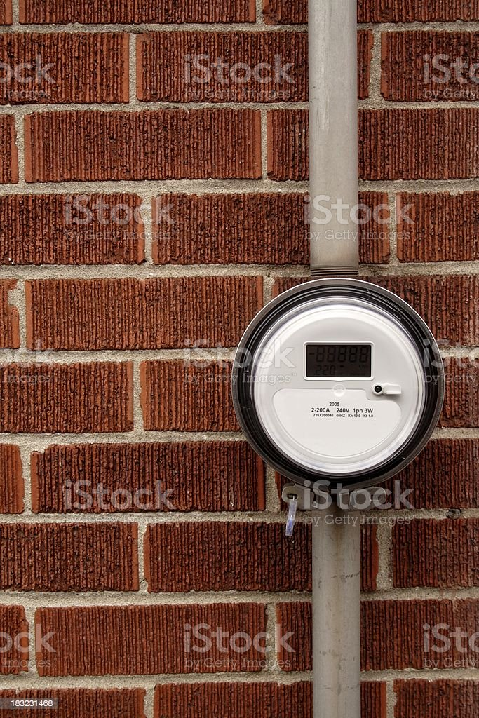 Digital Electricity Meter royalty-free stock photo