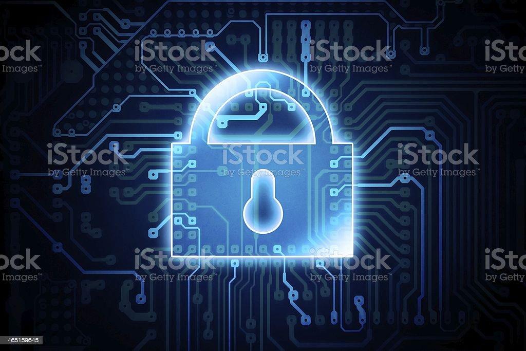 Digital Encryption Lock stock photo