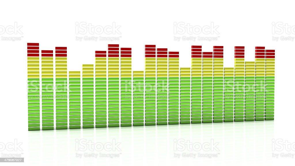 Digital equalizer in 3d stock photo