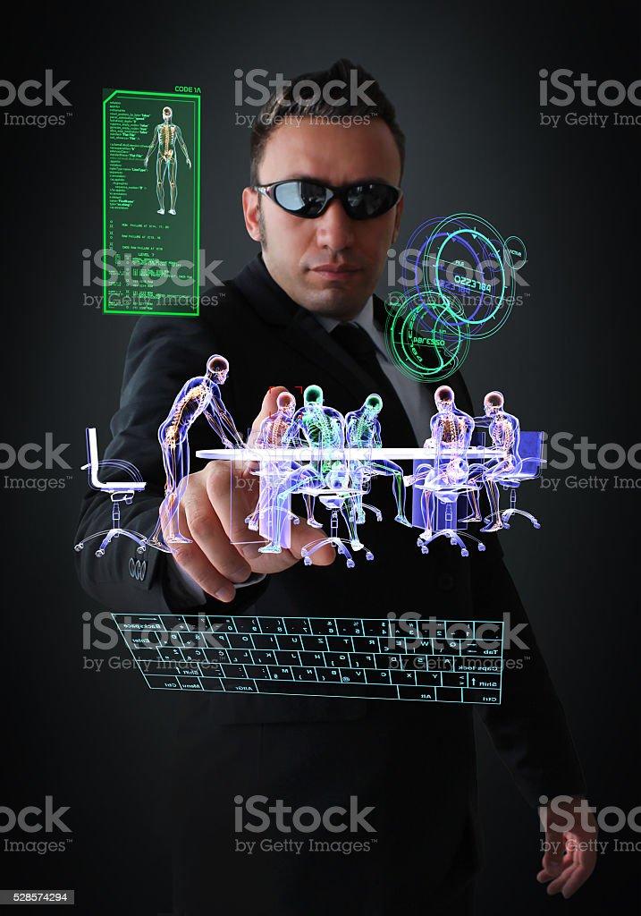 Digital Espionage stock photo