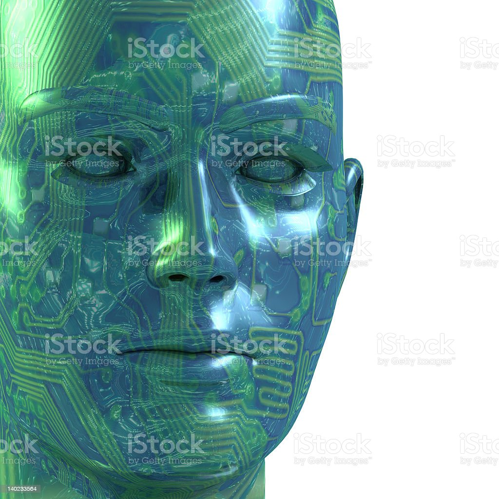 Digital Face 3D royalty-free stock photo