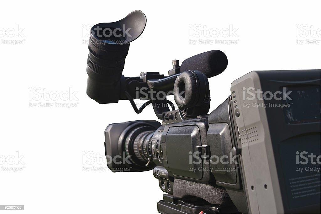 Digital film camera stock photo