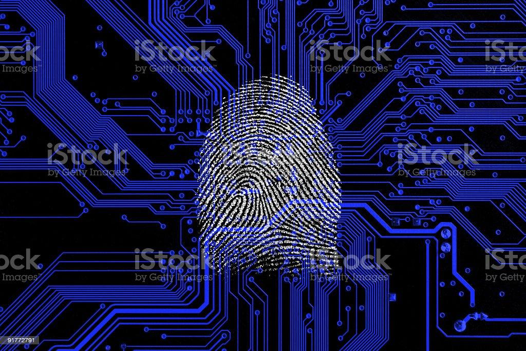 Digital fingerprint royalty-free stock photo