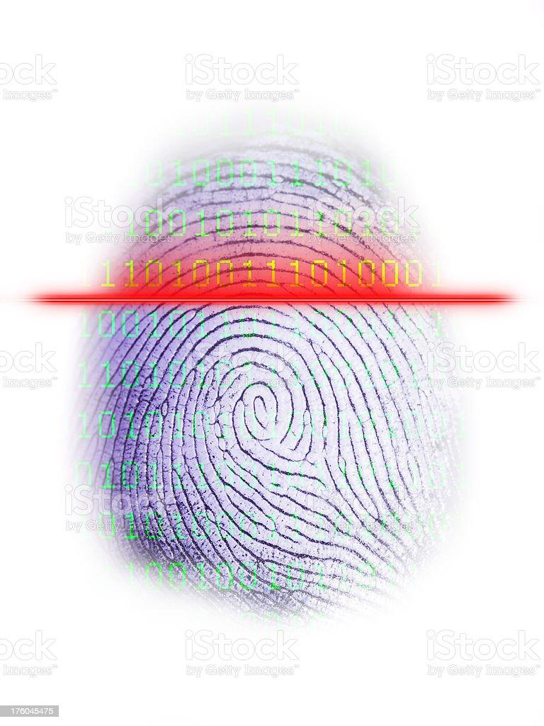 Digital Fingerprint Scanner on White royalty-free stock photo