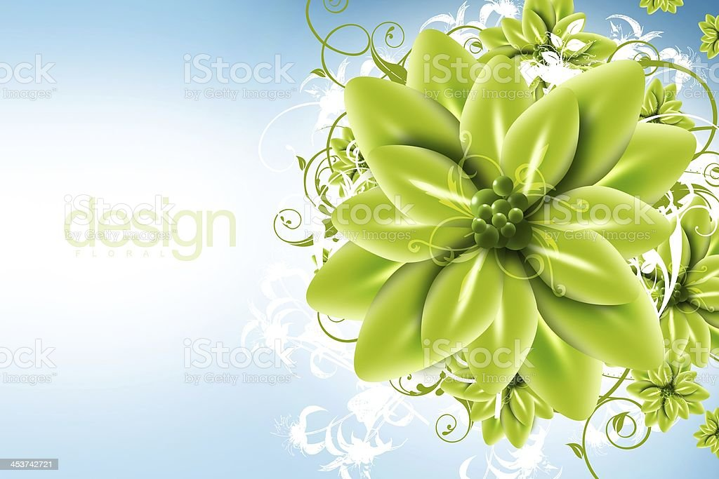 Digital Floral Design stock photo