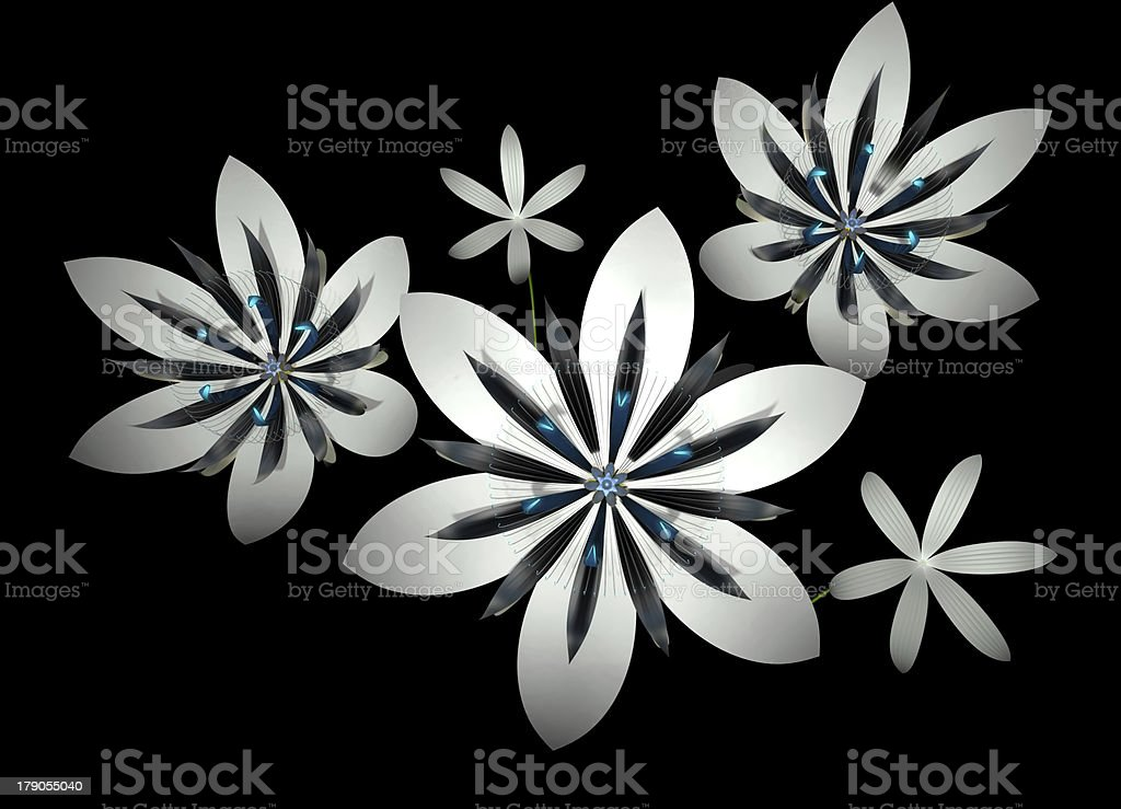 digital flowers royalty-free stock photo