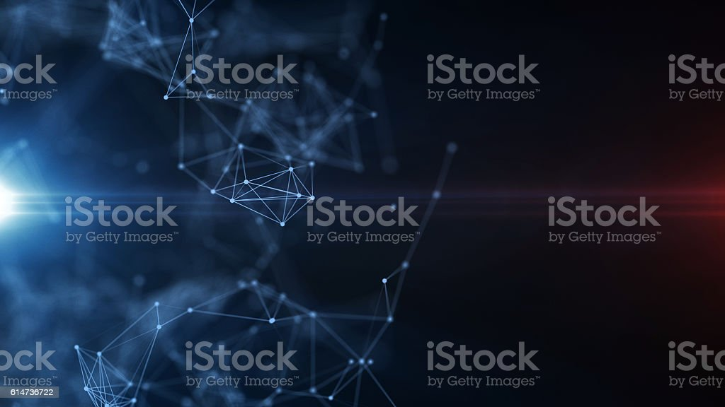 Digital Formation Futuristic Background stock photo