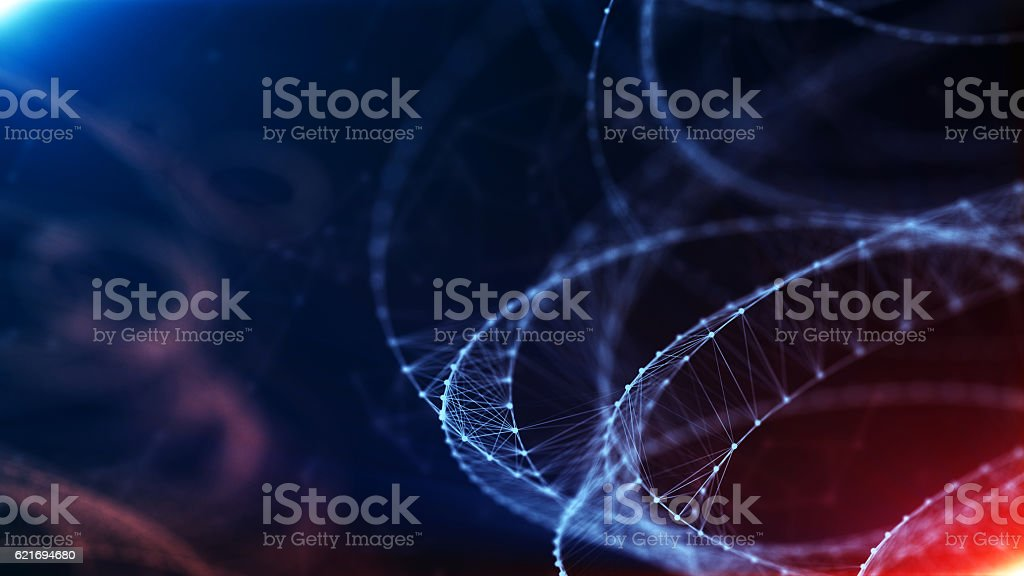 Digital Formation Futuristic Background stock photo