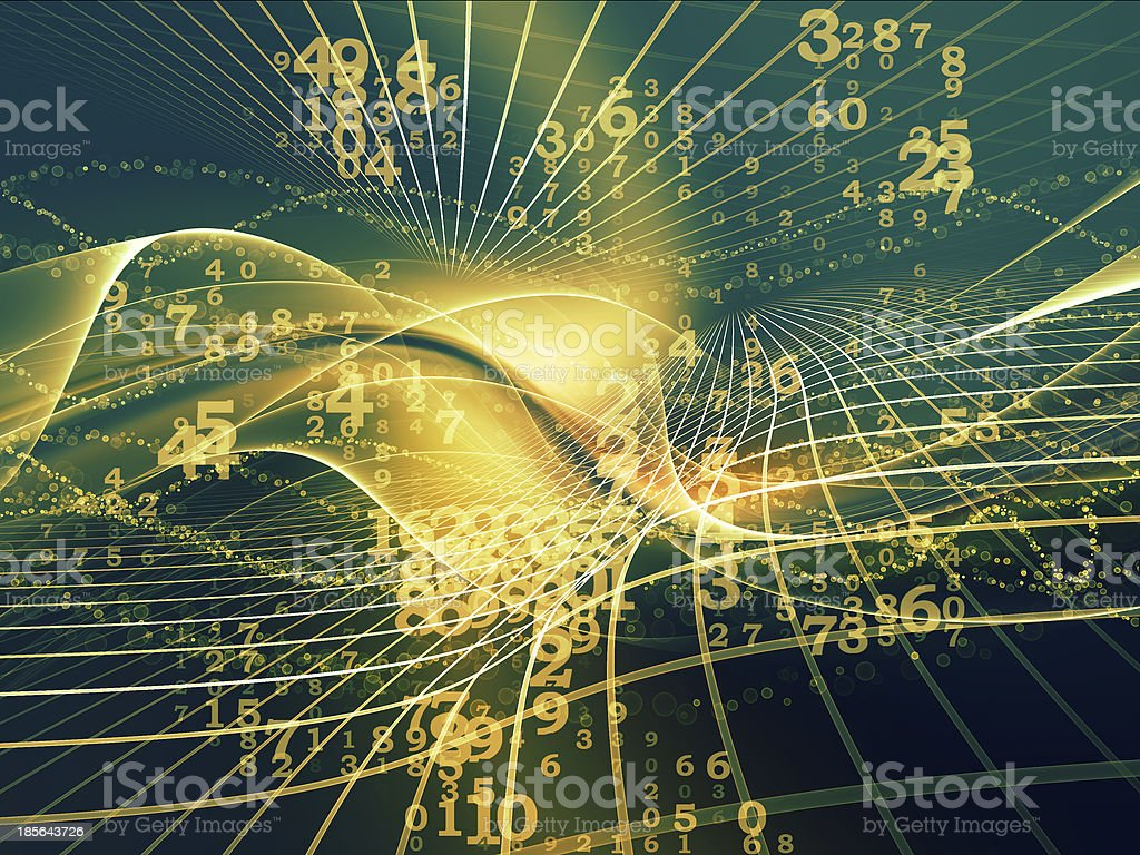 Digital Fractal Realms stock photo