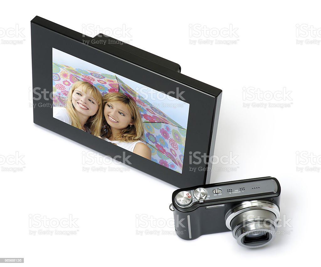 digital frame with camera royalty-free stock photo