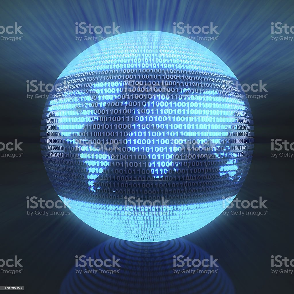 Digital globe royalty-free stock photo