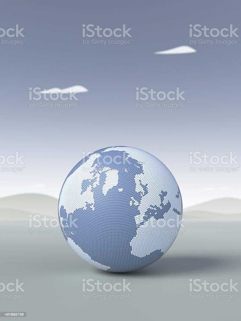 Digital Globe XL royalty-free stock photo
