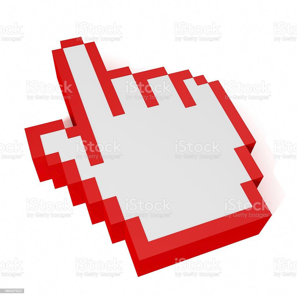 Digital Hand Cursor 2 stock photo