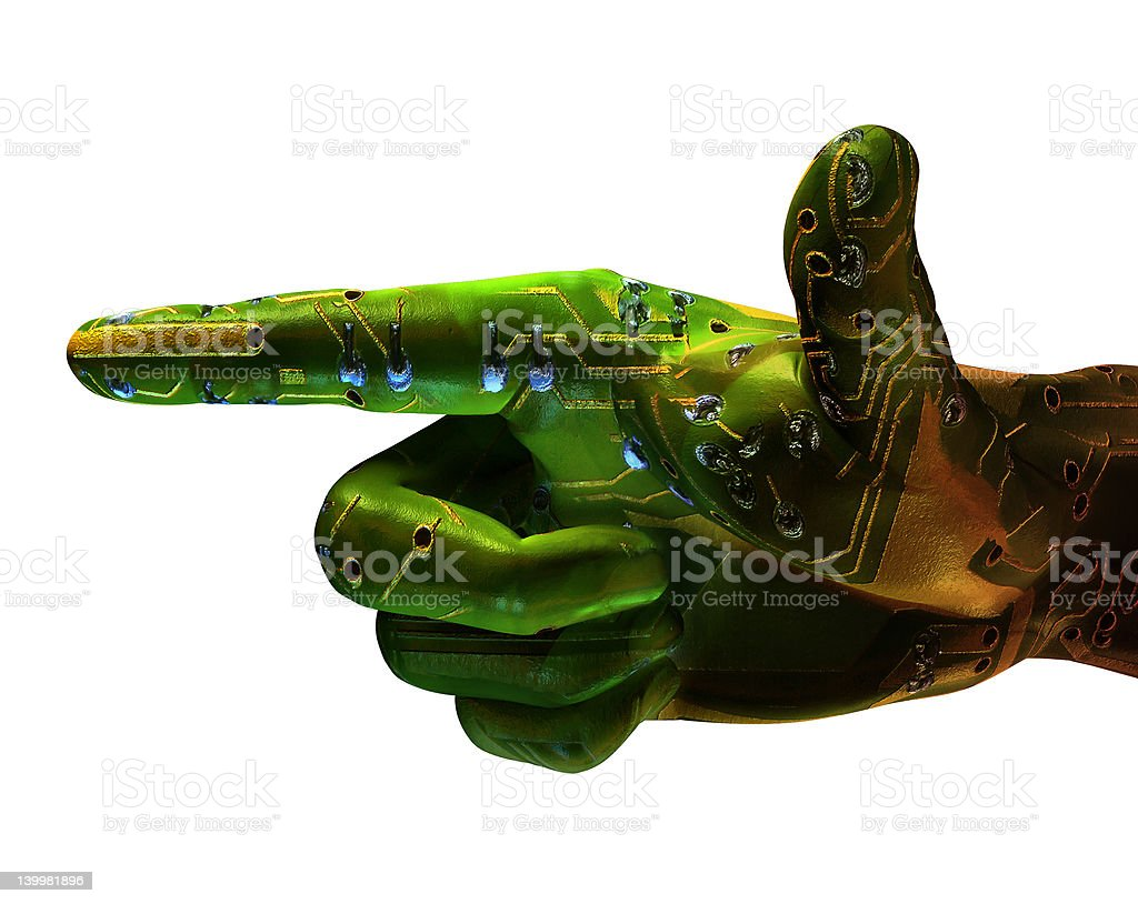Digital Hand royalty-free stock photo