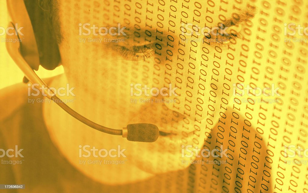Digital Help Desk royalty-free stock photo