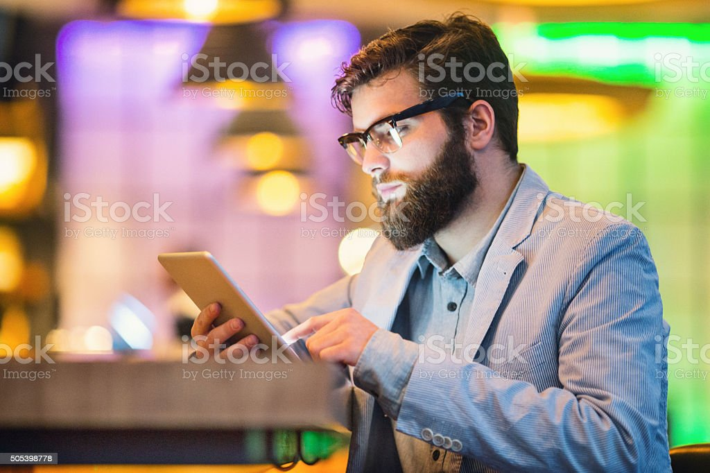 Digital hipster. stock photo